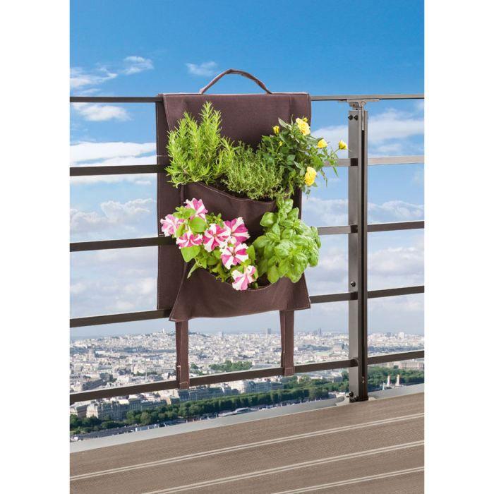 mur v g tal pour balcon 41x22x48cm achat vente jardini re pot fleur mur v g tal pour. Black Bedroom Furniture Sets. Home Design Ideas