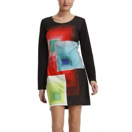 bee3fa831a4 Robe femme desigual manches longues - Achat   Vente pas cher
