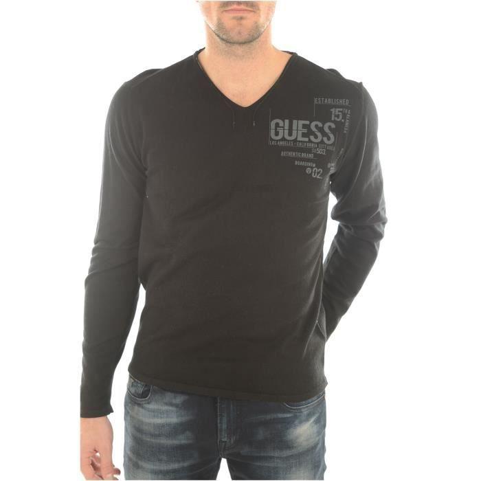 15af0805e82e1 Pulls Homme Guess Jeans Noir - Achat   Vente pull - Soldes  dès le 9 ...