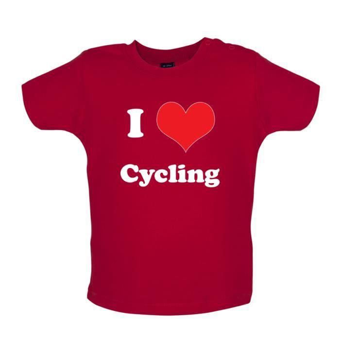 Dredown I Love Cycling T Shirt Bébé Rouge Rouge Achat Vente