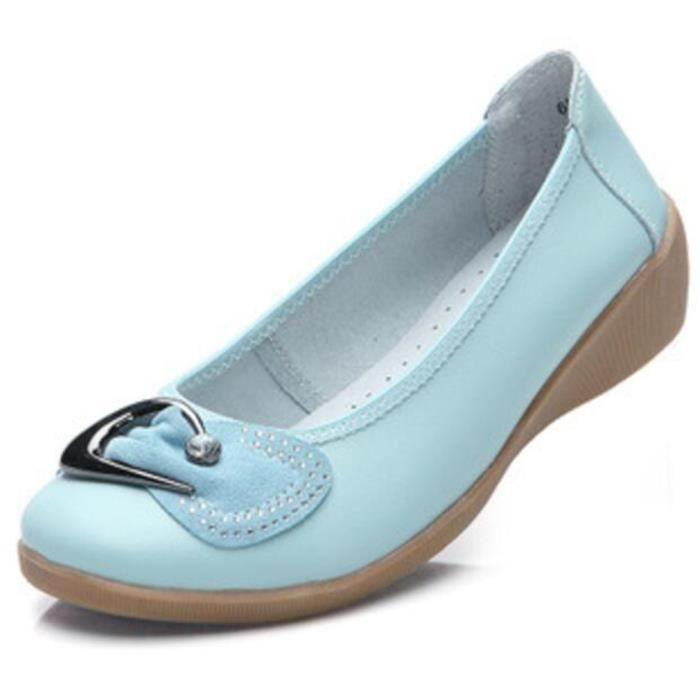 Xz047bleu39 Chaussures Cuir Comfortable Femme Classique Chaussure Blkg hdxrCtQBos
