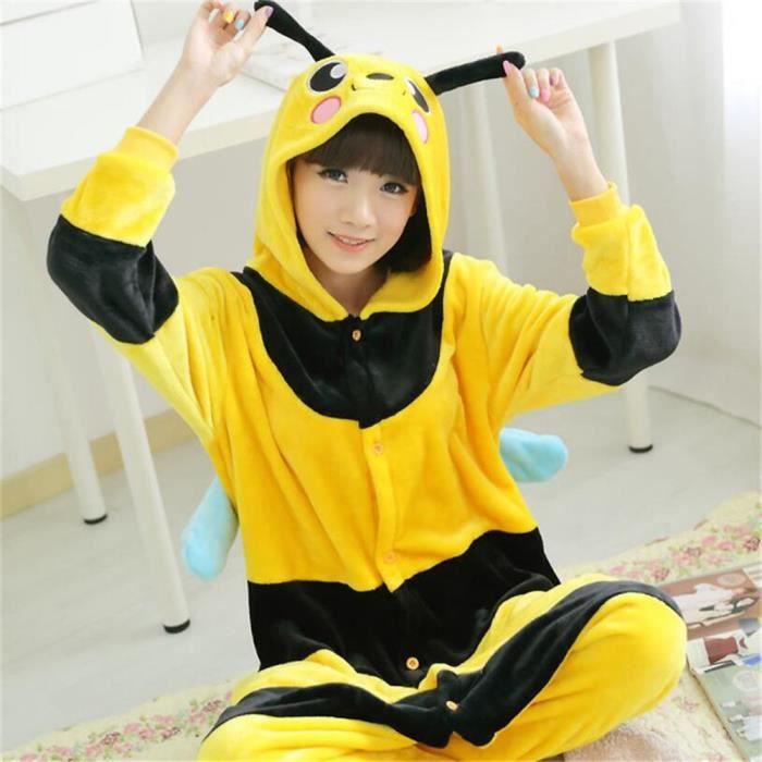 Adulte Flanelle Pour Pyjamas Fête À Capuche Super Animaux De L'hiver Cosplay Noël Mignonne La Pikachu Nuit Femmes qwqnvtXT