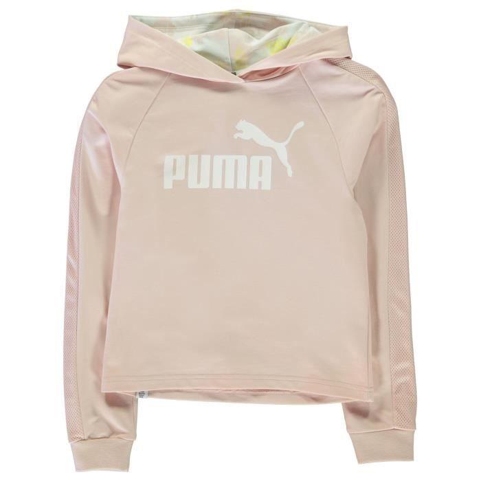 6c4f643c9c585 Puma Sweat À Capuche Coupe Courte Fille Rose Rose blanc - Achat ...
