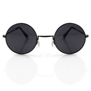 38e83d8bb7e46c ... LUNETTES DE SOLEIL rond noir john lennon lunettes de soleil style sur  ...