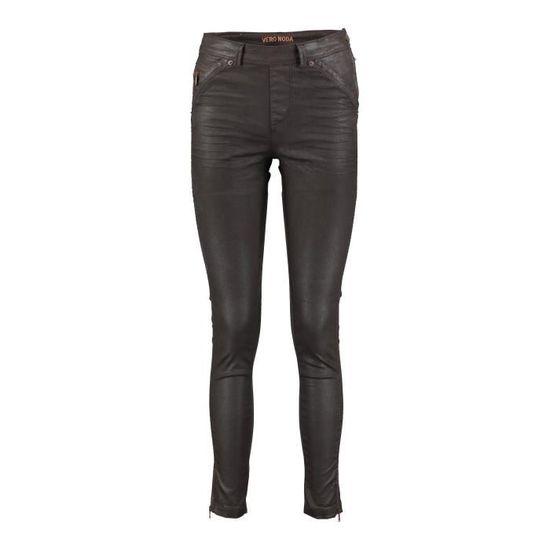 Jeans Rider Vero Moda Marron Enduit Marron - Achat   Vente jeans - Cdiscount b9c156604a7c
