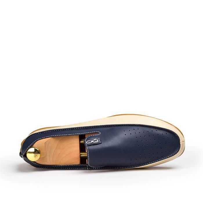 Casual Nouveau Mocassins Business cuir Homme Grande taille38 Chaussures bateau 47 Chaussure wx41CqCtFE