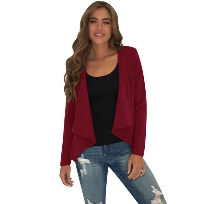 Pour Manches Femmes Top Vrac Cascade En Hauts zf5218 Jacket Outwear Deuxsuns®les Cardigan Longues tZHnxxqd