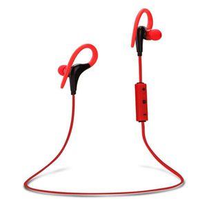 CASQUE - ÉCOUTEURS Oreillette Bluetooth Casque de Sport Sans Fil Stér