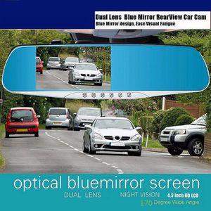 BOITE NOIRE VIDÉO 4.3 Full HD 1080p Voiture Auto DVR Rétroviseurs Ca
