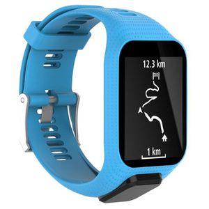 BRACELET DE MONTRE Bracelet de montre courroie bande bleu pour TomTom