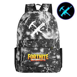 CARTABLE Fortnite Game Fortress Night Sac d'école lumineux