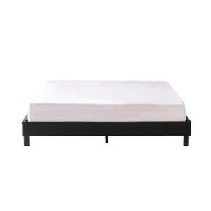 STRUCTURE DE LIT Lit design noir avec sommier 160 x 200 cm - Nocta