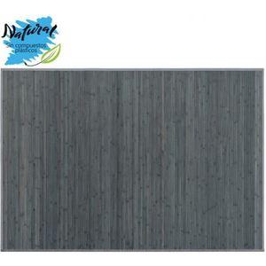 TAPIS Tapis bambou gris pour salon ou chambre à coucher.