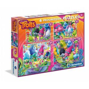 PUZZLE Puzzle 20 pièces 4 Puzzles - Trolls