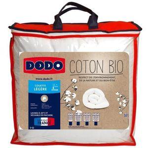 COUETTE DODO Couette légère Coton Bio - 240 x 260 cm - Bla