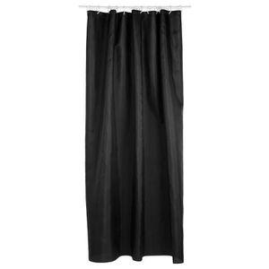 rideau de douche noir achat vente rideau de douche. Black Bedroom Furniture Sets. Home Design Ideas