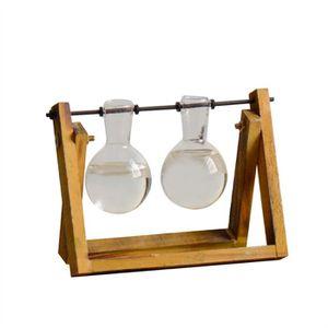 VASE - SOLIFLORE Verre de bureau Planteur Ampoule Vase avec pivotan