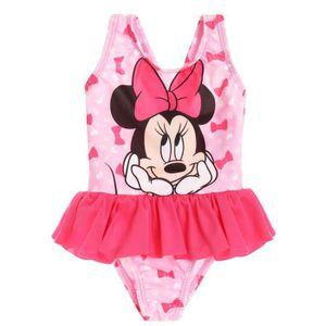 Maillot de bain 1 pièce bébé fille Minnie Rose 3 à 24mois Rose Rose ... 0769ce403454