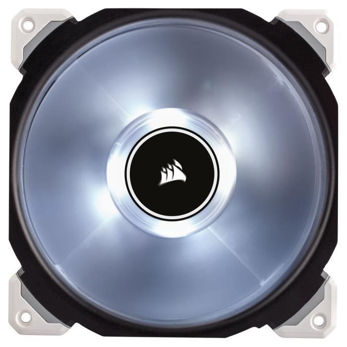 CORSAIR Ventilateur ML140 Pro - Diamètre 120mm - LED Blanches - Single Pack (CO-9050046-WW)