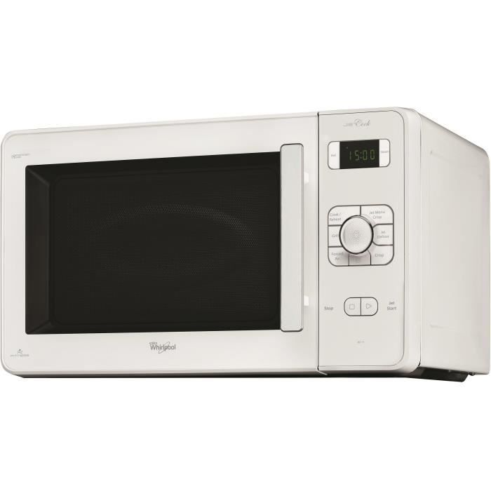 WHIRLPOOL JC218WH-Micro ondes combiné blanc-30 L-1000 W-Grill 1000 W-Chaleur pulsée 1300 W-Pose libre
