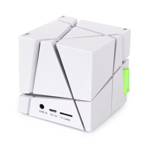 Mini Cube Portable Led Haut-parleur Stéréo Bluetooth Sans Fil Pour Smartphone Tabletwh