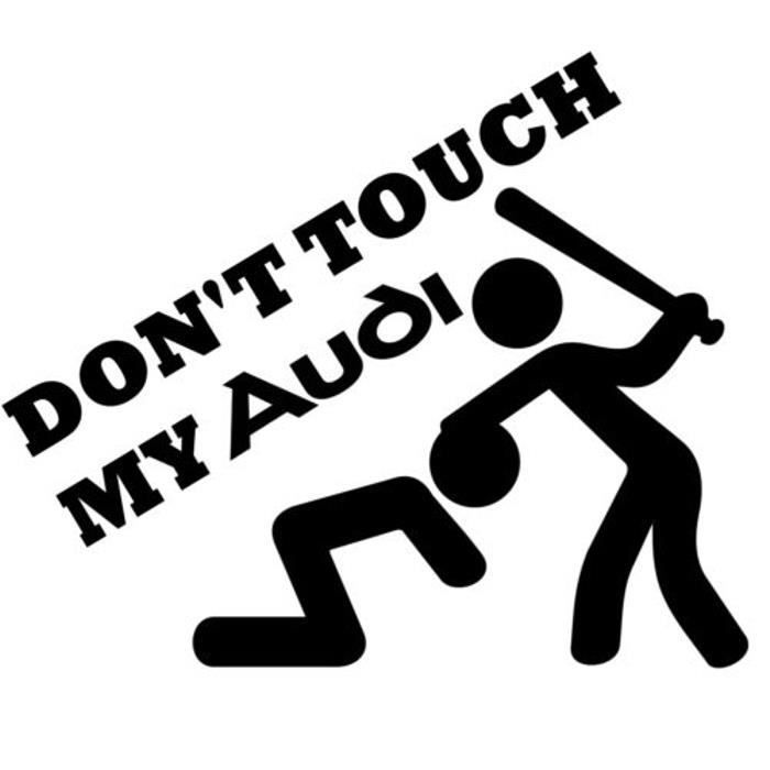 Exceptionnel DON'T TOUCH MY AUDI sticker autocollant tuning deco voiture logo  KU97