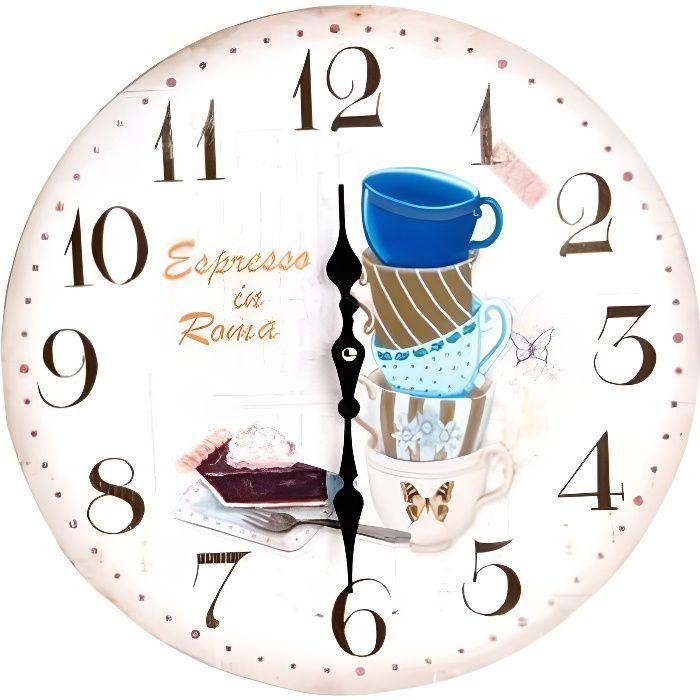 Horloge Pendule Murale Cuisine Tasse à Café Achat Vente