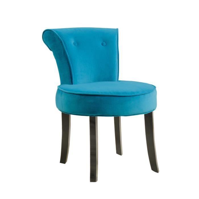 Petit fauteuil crapaud en coton toucher velours BERLIOZ Achat