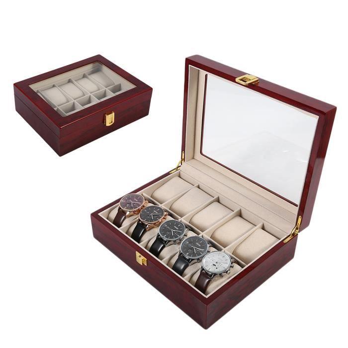 boite montres boite montre homme avec rangement montres. Black Bedroom Furniture Sets. Home Design Ideas