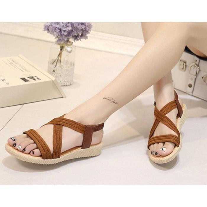 Sandales Mode d'extérieur Chaussures plates confortables nkTgSlEWR