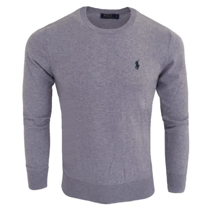Pull Ralph Lauren homme Pull col rond RF71 gris Gris Gris - Achat ... 373ab21ffd3