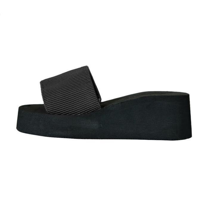 Chaussures Femmes D'été Intérieur Et Les Noir Sandales Napoulen Extérieur Chausson E7qPfS