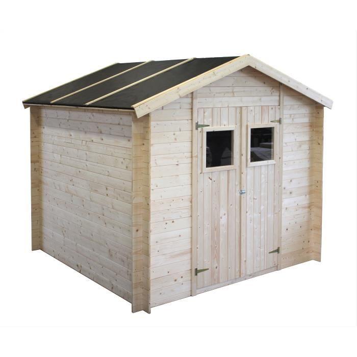 ABRI JARDIN - CHALET Abri de jardin bois FSC 6,25 m² - épaisseur 19 mm