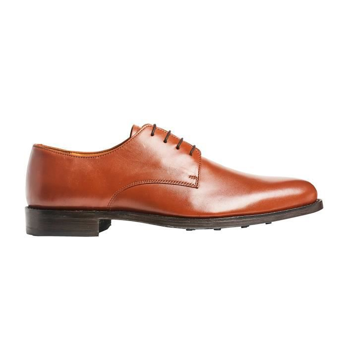 Mens Truman Derby Leather Shoe In Goodyear Welted Construction BZBED Taille-39 1-2