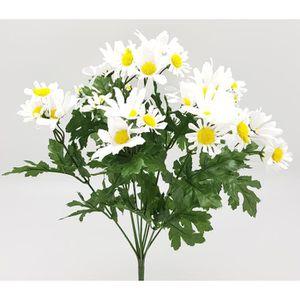 Fleurs coupées Bouquet de marguerites - H 38 cm - Blanc