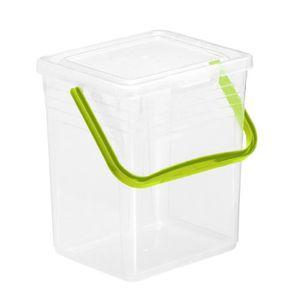ROTHO POWDY Boîte de rangement - Transparent - Rectangulaire - Monotone - Vert - 7 L