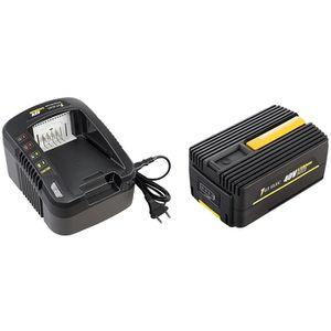 PIÈCE OUTIL DE JARDIN Pack chargeur + batterie GT ELEC 40 Volts - Capaci