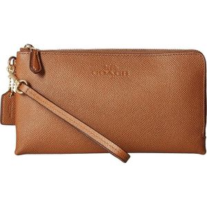 Portefeuille - COACH Femme Pebbled Cuir Double Zip Wallet - Achat ... eb9dafea142