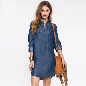 ROBE Robe femmes jeans Casual longues