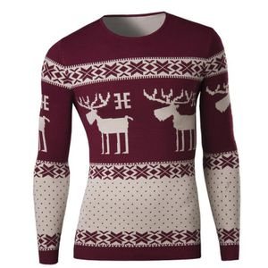 PULL Pull hommes cerf loisirs Rouge