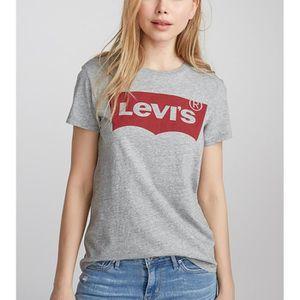 T-SHIRT T-Shirt LEVIS Femme Gris-Rouge