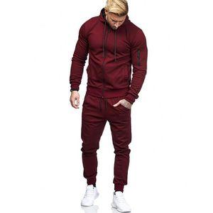 SURVÊTEMENT Sweat Zipper Patchwork Automne Hommes Top Pantalon 3899603bd89
