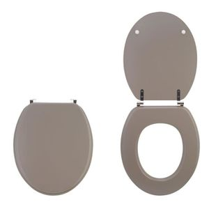 ABATTANT WC WIRQUIN - Abattant colors line taupe mat