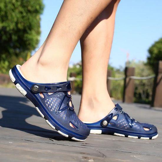 En De Chaussures D'été Chaussons Air Retourner Plein Plage Hommes Bleu Marche Casual Flops fbIY7v6gym