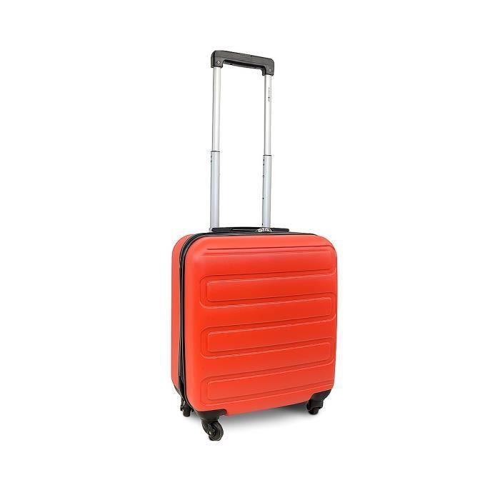 KINSTON Valise Cabine rigide Austin - Coque ABS renforcée - 4 roues à 360° - Rouge