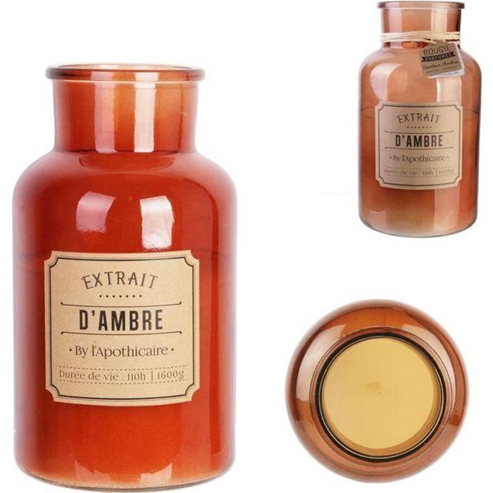 THE CANDLE FACTORY Bougie apothicaire - XL Ambre - D 14.5 X h25.5 cm - Marron