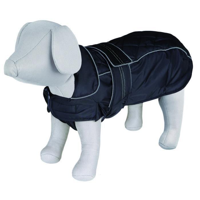 TRIXIE Manteau Rouen S–M: 43 cm noir pour chien