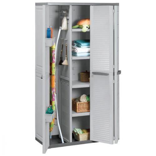 armoire utilitaire - armoire haute utilitaire 3 portes ivoire