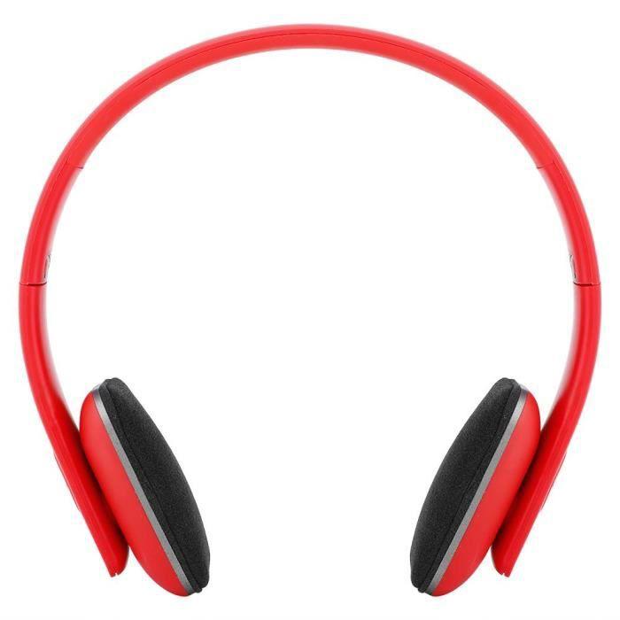 Casque Bluetooth 42 Sans Fil Intégré Hi Fi Rouge Enceintes