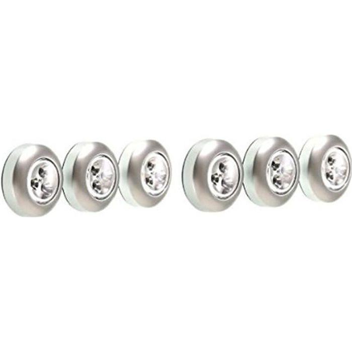 Piles Lampes Led Incluse Blanchebatterie À 6pcs3 Spots Autocollants Lampelumière Non j5cALq34RS